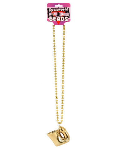 Bachelorette penis shotglass hanging beaded necklace