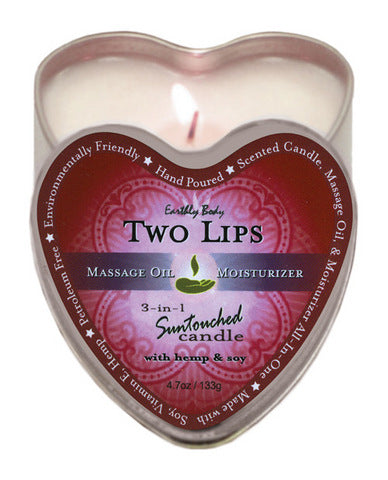 Earthly body 3 in 1 candle - 4 oz two lips