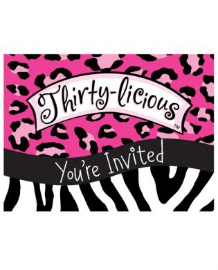 Thirty-licious invitation