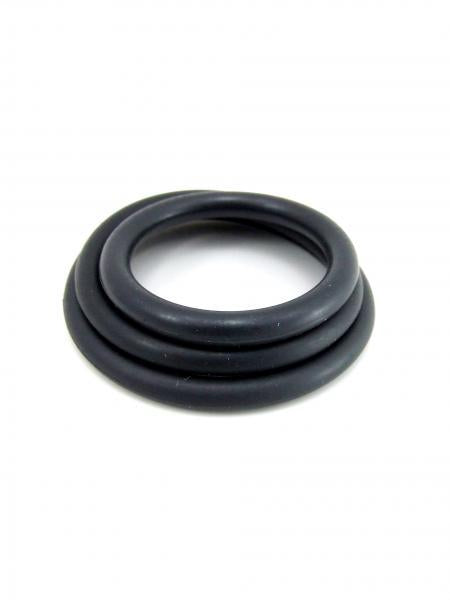 M2M Cock Ring Nitrile 3 Piece Set Black