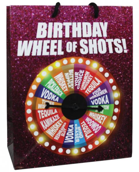 Birthday Wheel Of Shots Spinner Gift Bag