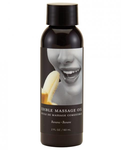 Earthly Body Edible Massage Oil - 2 Oz Banana