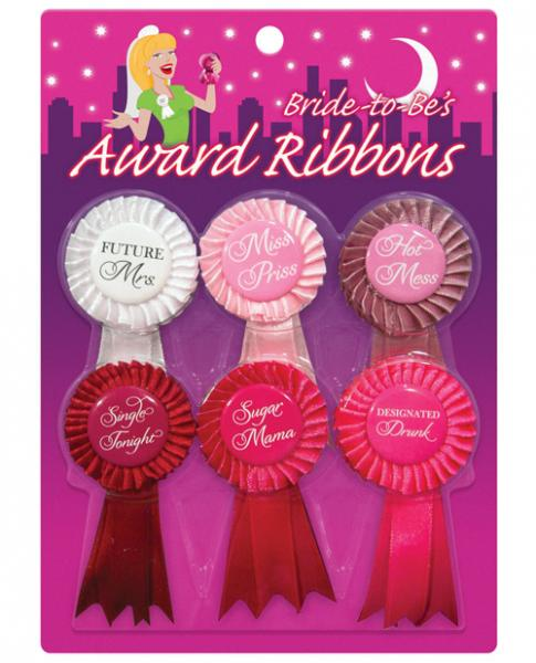 Bride To Be Award Ribbons 6 Pack