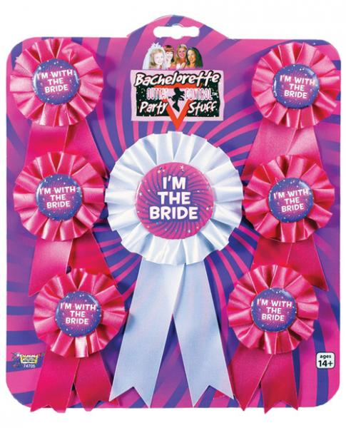 Bachelorette Ribbons Assorted Pack Of 7