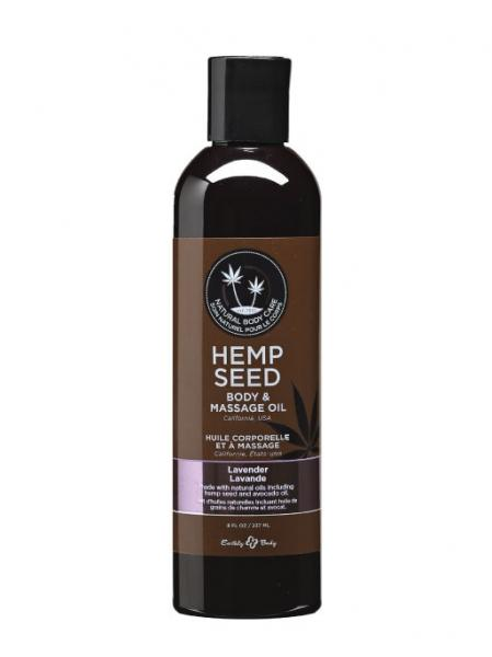 Earthly Body Massage Body Oil With Hemp Seed Lavender 8oz