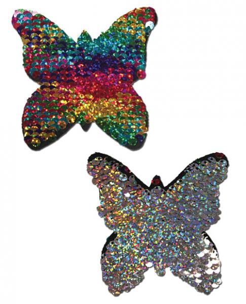 Pastease Color Changing Flip Sequins Butterfly Rainbow O/S