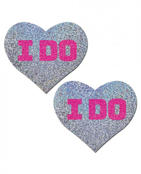 Pastease Bridal I Do Hearts Pasties Silver O/S
