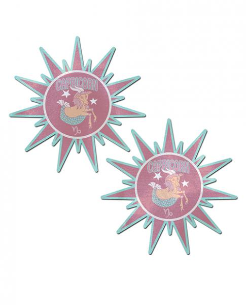 Pastease Astrology Sunburst Capricorn Pink Teal O/S