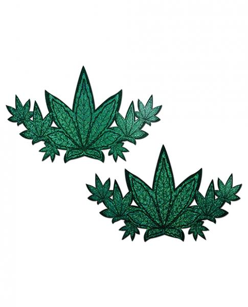 Pastease Demi Glitter Leaf Pasties Green O/S