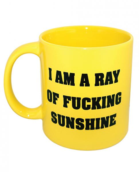 Attitude Mug I Am A Ray Of F*cking Sunshine Yellow