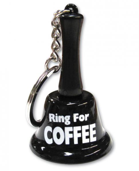 Ring For Coffee Keychain Black Bell
