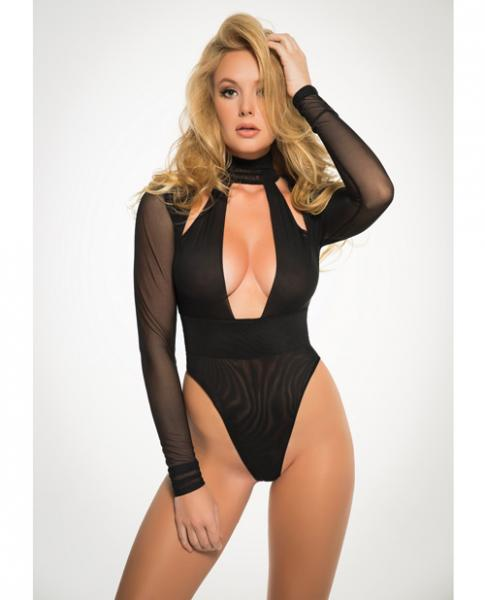 Adore Sheer Bodysuit Black Small