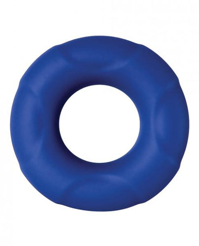 Big Man Silicone Cock Ring Blue