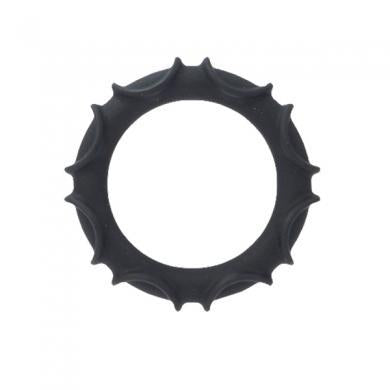 Adonis atlas silicone ring - black
