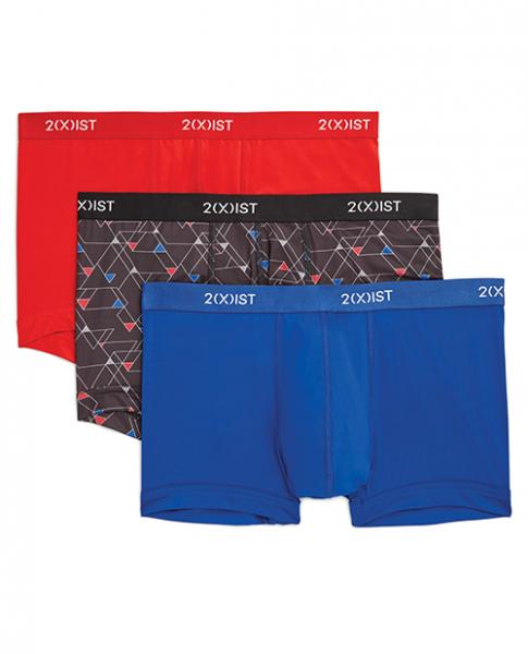 2xist 3 Pack No Show Trunks Red, Black, Blue XL