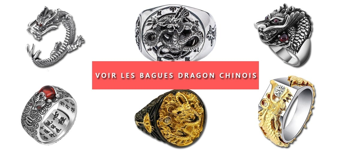 Bagues Dragon Chinois