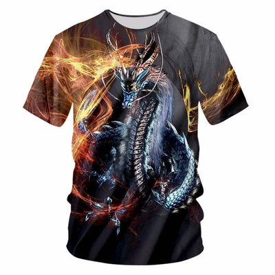 T-Shirt Dragon 3D