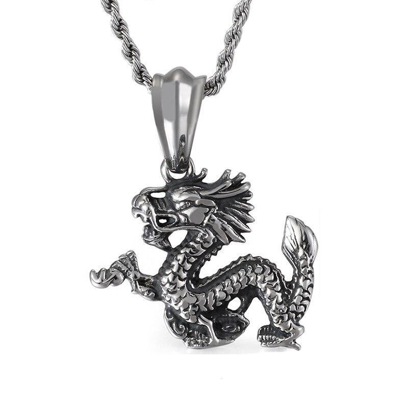 Collier Dragon Métal