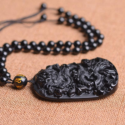 Collier Dragon Perles