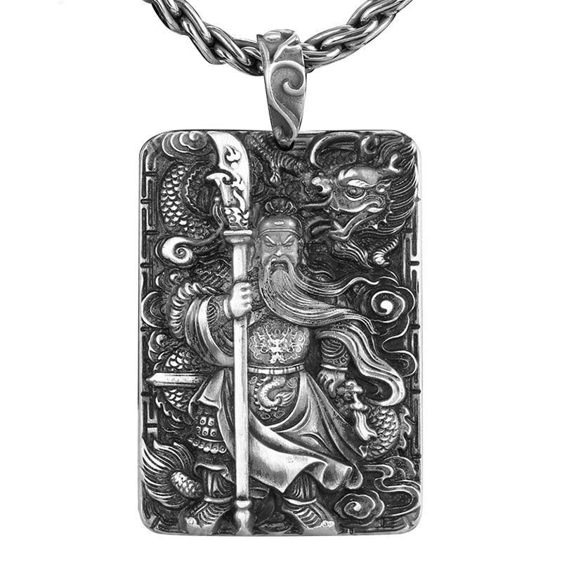 Collier Dragon<br> Guan Yu (Argent)