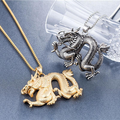 Collier Dragon Acier