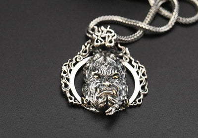Collier Dragon Argent