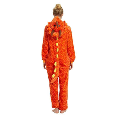 Costume Dinosaure Orange