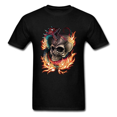 T-Shirt Dragon Crâne