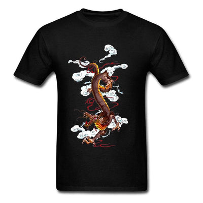 T-Shirt Dragon Doré