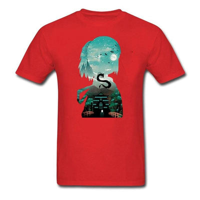 T-Shirt Monde Imaginaire Rouge