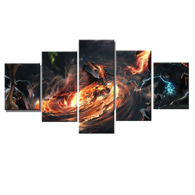 Tableau Dragon Tornade Destructrice
