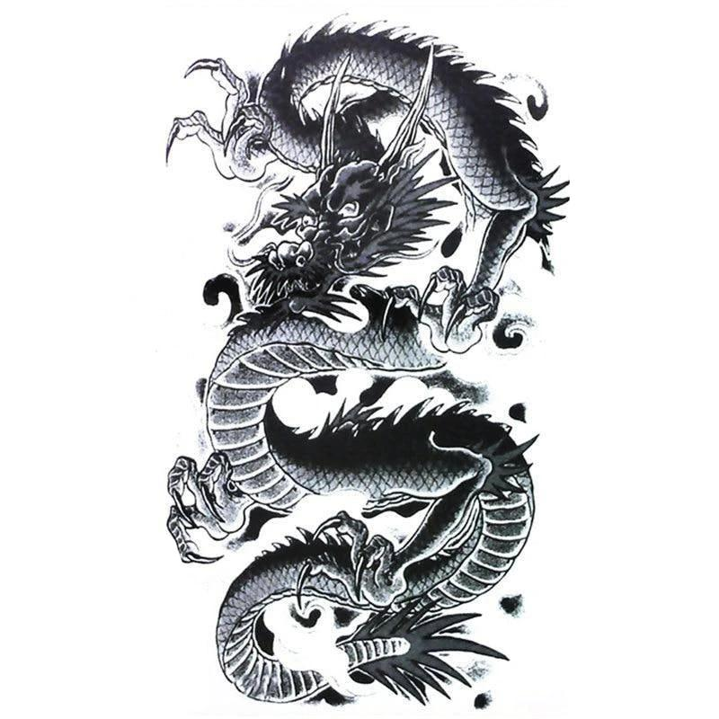 Tatouage Temporaire Dragon Malin