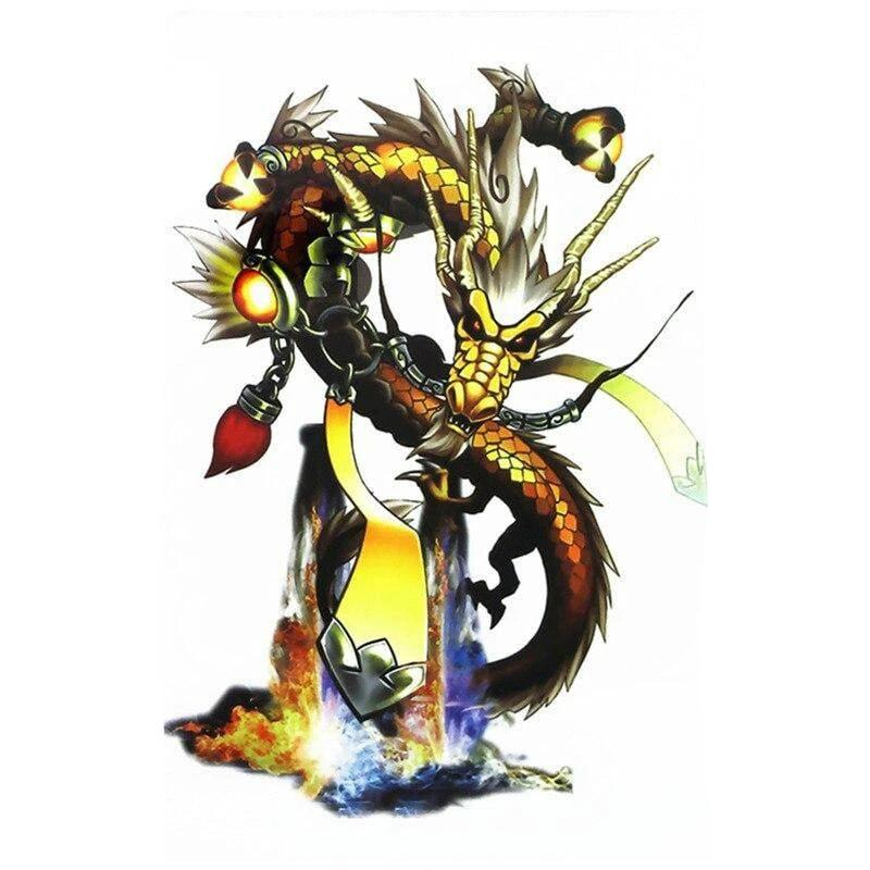 Tatouage Temporaire Dragon Shiryu