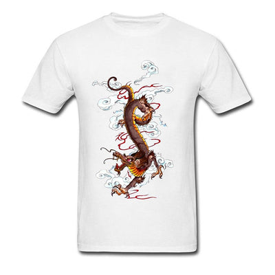Tee-Shirt Dragon Doré