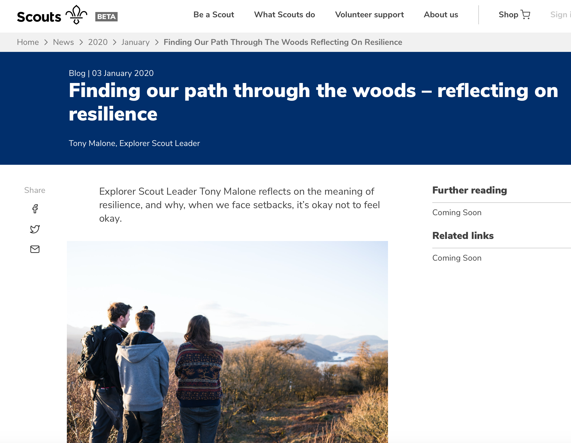 Finding our path through the woods – reflecting on resilience