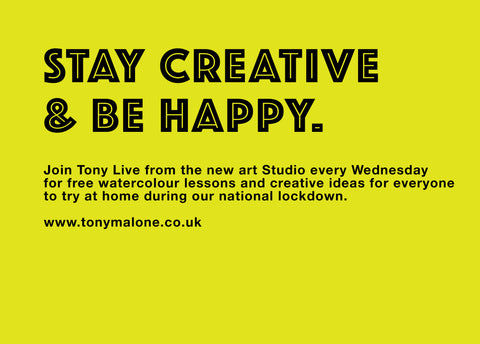 Join Tony every Wednesday for free creative watercolour lessons