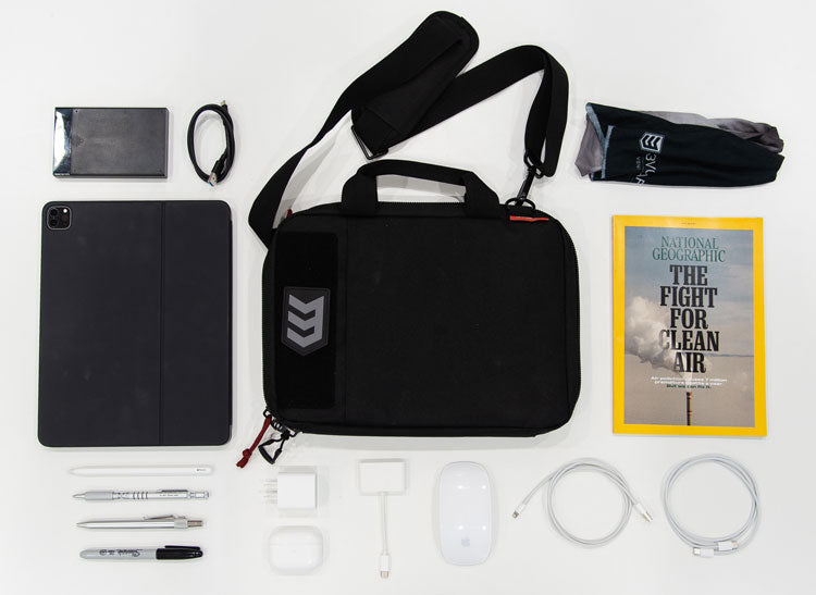 3V Gear Privy Personal Essentials EDC Case as a tech bag - flat lay