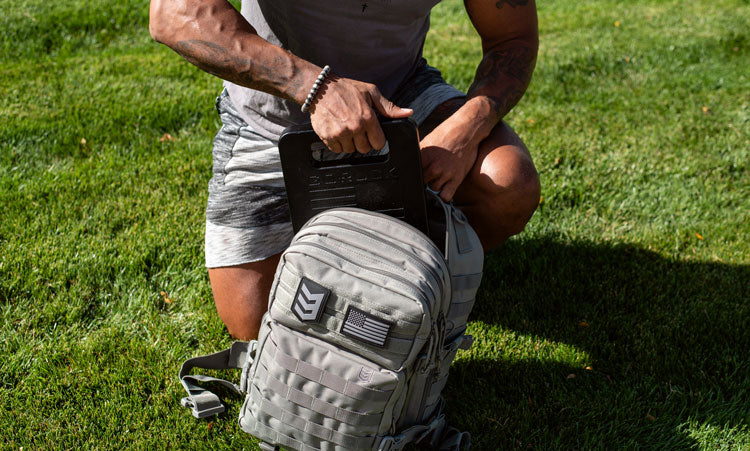 Using a rucking plate in Velox backpack