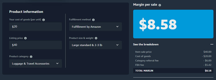 Amazon Fees Calculator