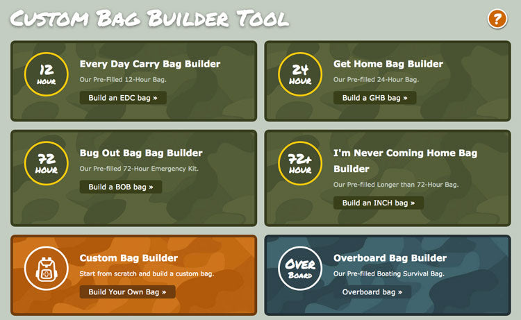 bug out builder