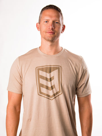3V Gear Shield Tee - Heather Tan