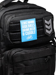 I Just Wanna Ride Bikes Morale Patch