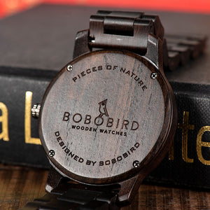 Watch Wooden Luxury Brand back