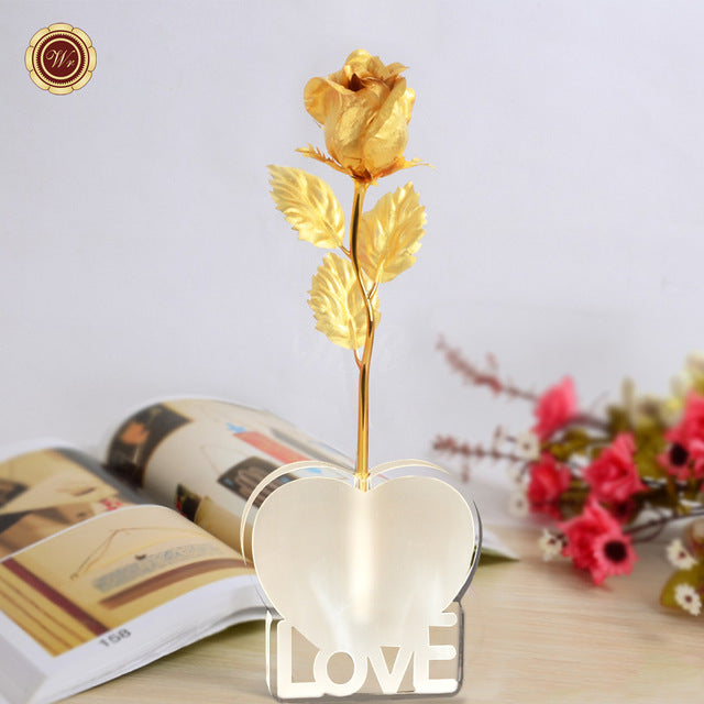 Eternal Rose Flower in Love Stand