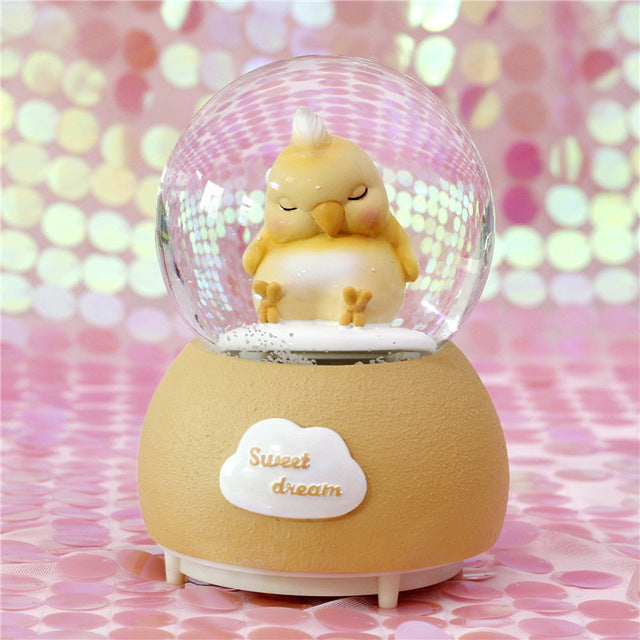 Romantic Lover Crystal Ball with Light