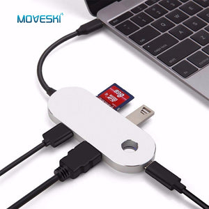 USB Hub Adapter Charger USB