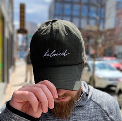 Beloved Dad Hat - Olive Green - Christian Apparel and Accessories - Ascend Wood Products