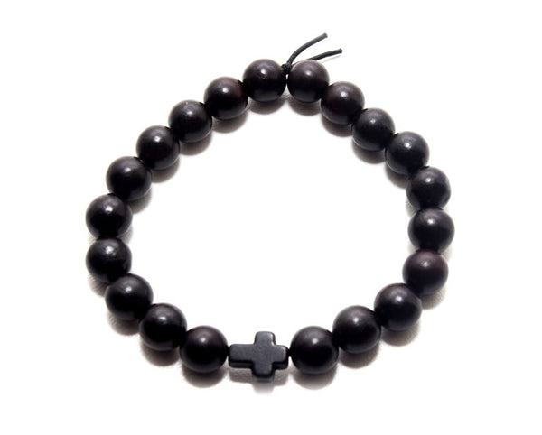 Blackwood Black Cross Bracelet