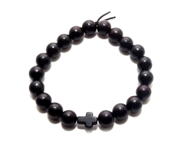 Blackwood Black Cross Bracelet - Christian Apparel and Accessories - Ascend Wood Products