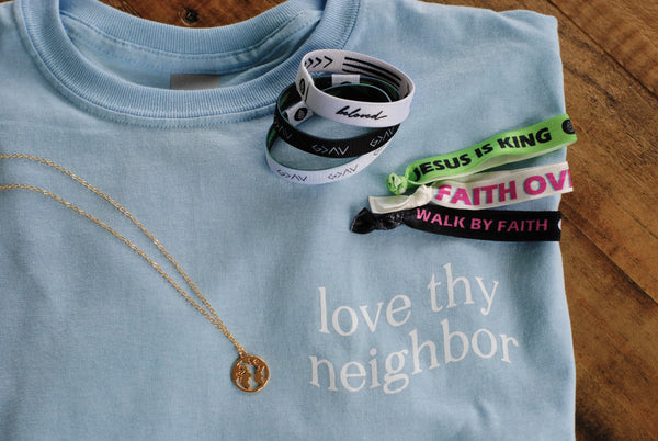 Tee Bundle | Tee + 3-Pack Reversible + 3-Pack Hair Tie + Necklace ($93 Value) - Christian Apparel and Accessories - Ascend Wood Products